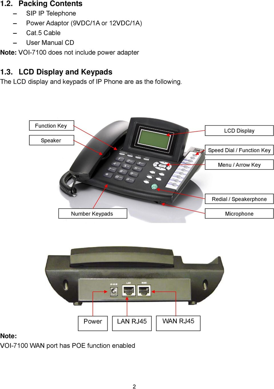 LCD Display and Keypads The LCD display and keypads of IP Phone are as the following.