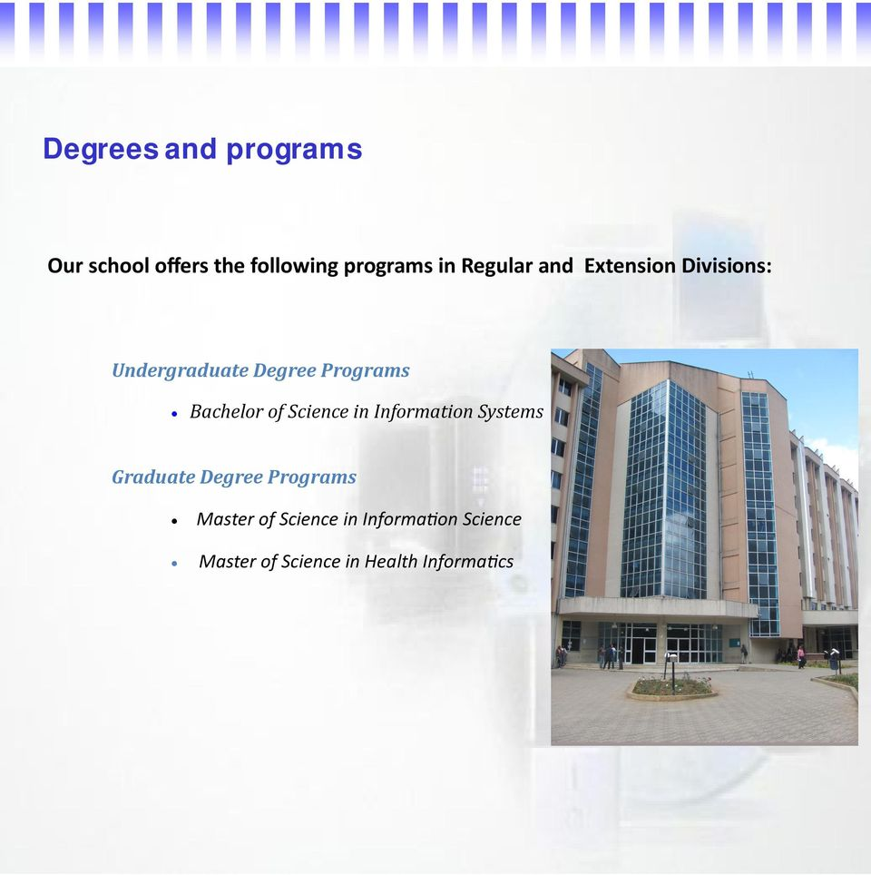 Bachelor of Science in Information Systems Graduate Degree Programs