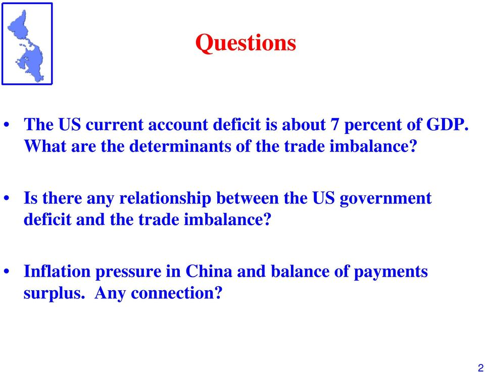 Is there any relationship between the US government deficit and the