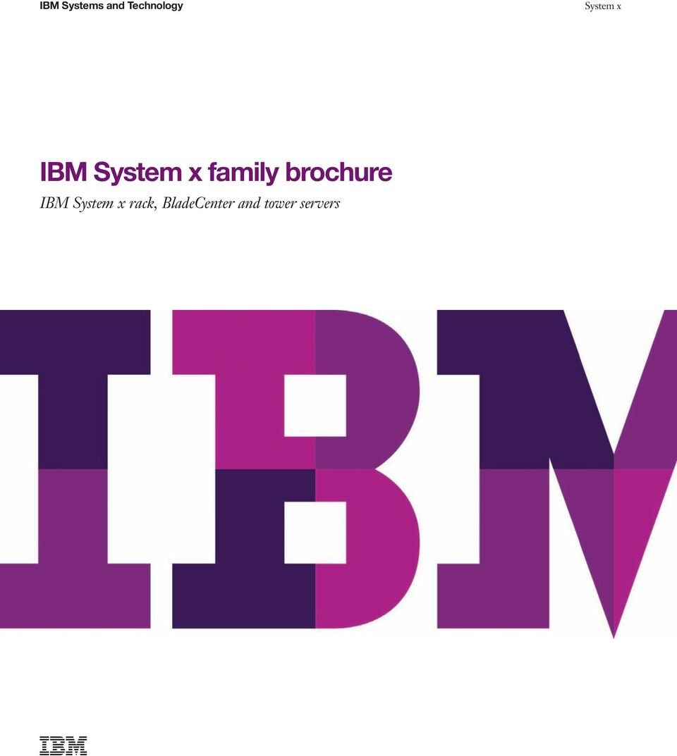 brochure IBM System x rack,