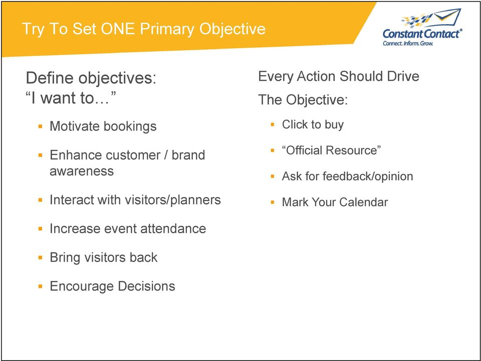 Should Drive The Objective: Click to buy Official Resource Ask for
