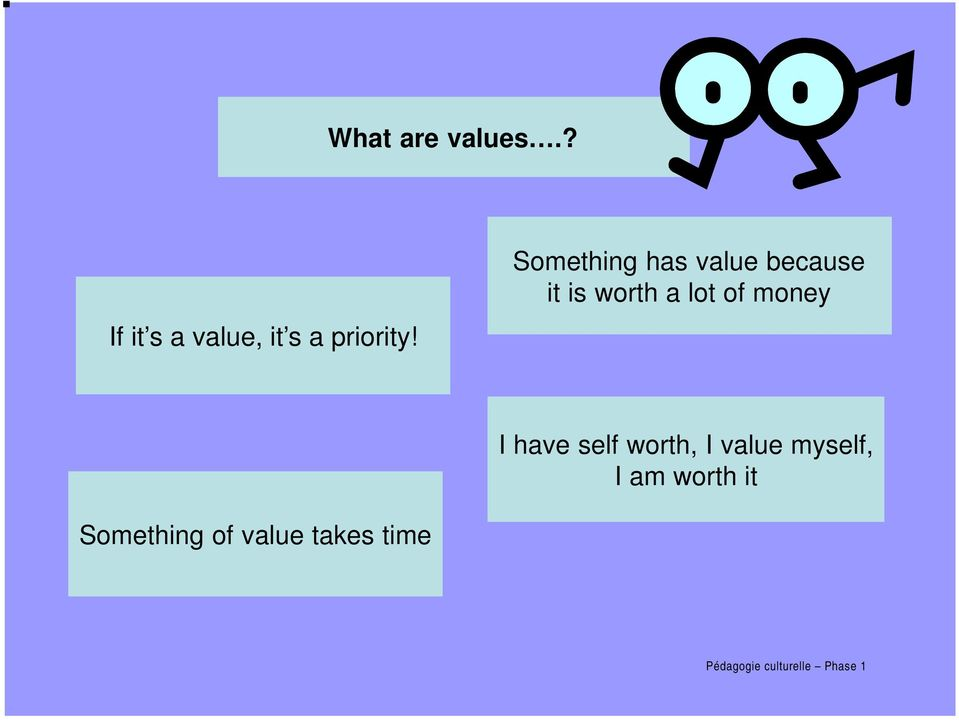 Something has value because it is worth a lot