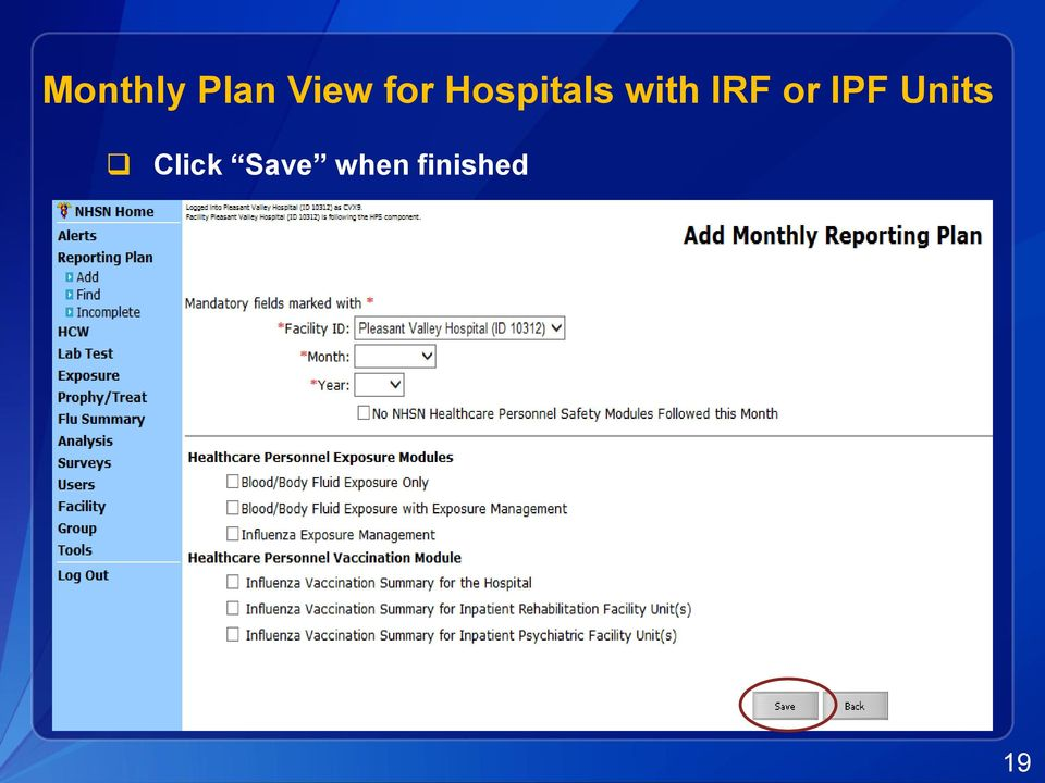 IRF or IPF Units