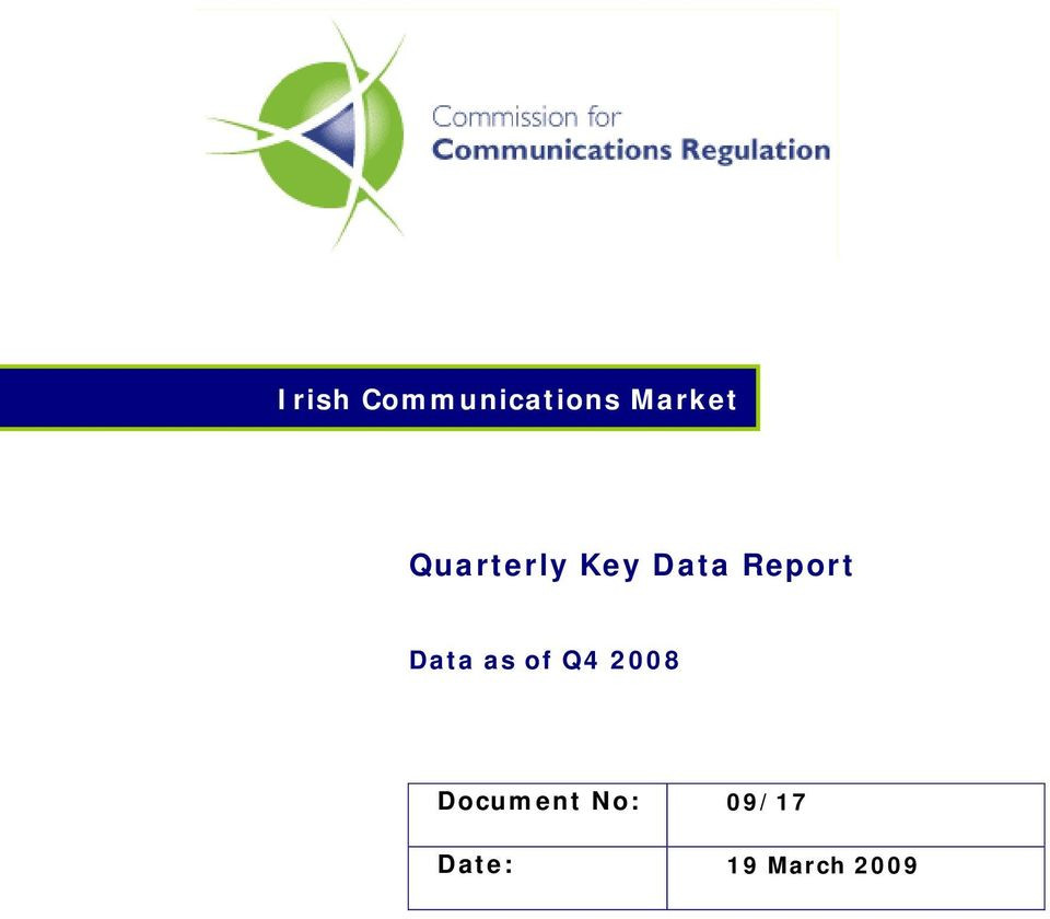 Data as of Q4 2008 Document
