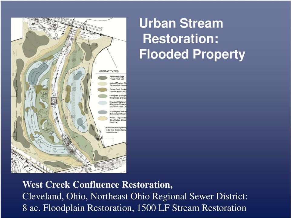Northeast Ohio Regional Sewer District: 8 ac.