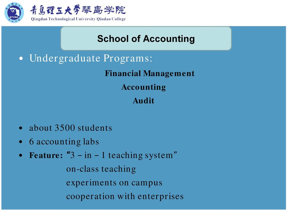 accounting labs Feature: 3 in 1 teaching system