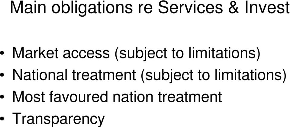 National treatment (subject to
