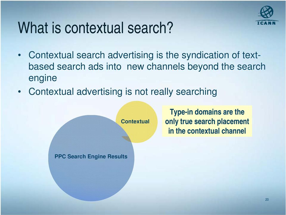 into new channels beyond the search engine Contextual advertising is not