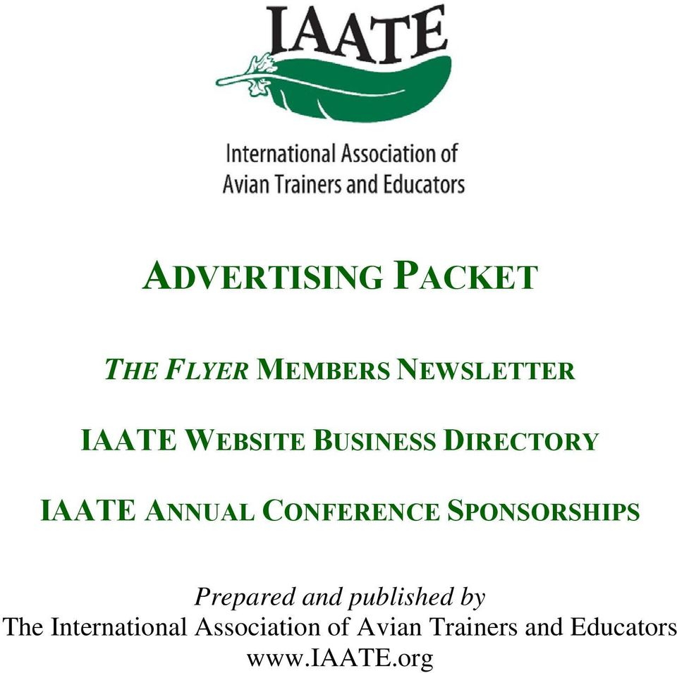 SPONSORSHIPS Prepared and published by The