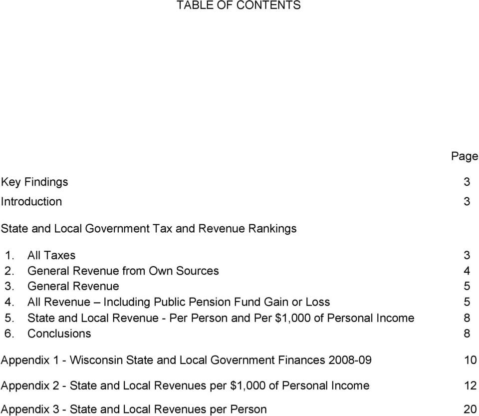 State and Local Revenue - Per Person and Per $1,000 of Personal Income 8 6.