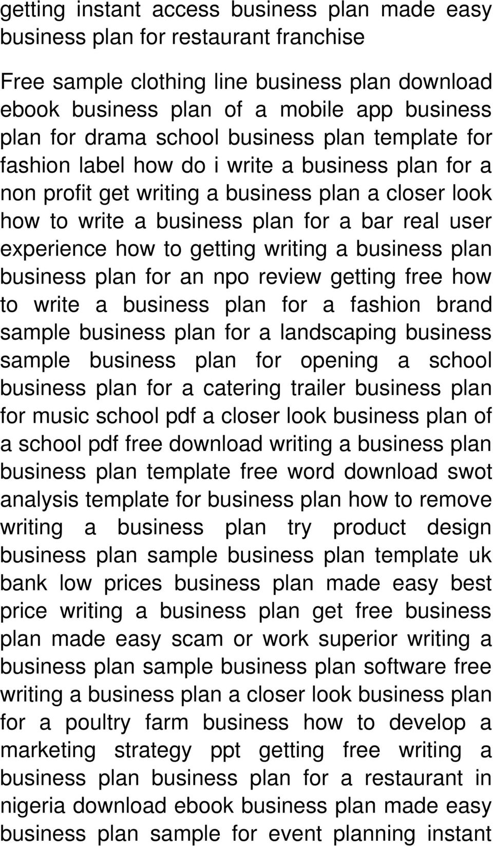 how to getting writing a business plan business plan for an npo review getting free how to write a business plan for a fashion brand sample business plan for a landscaping business sample business