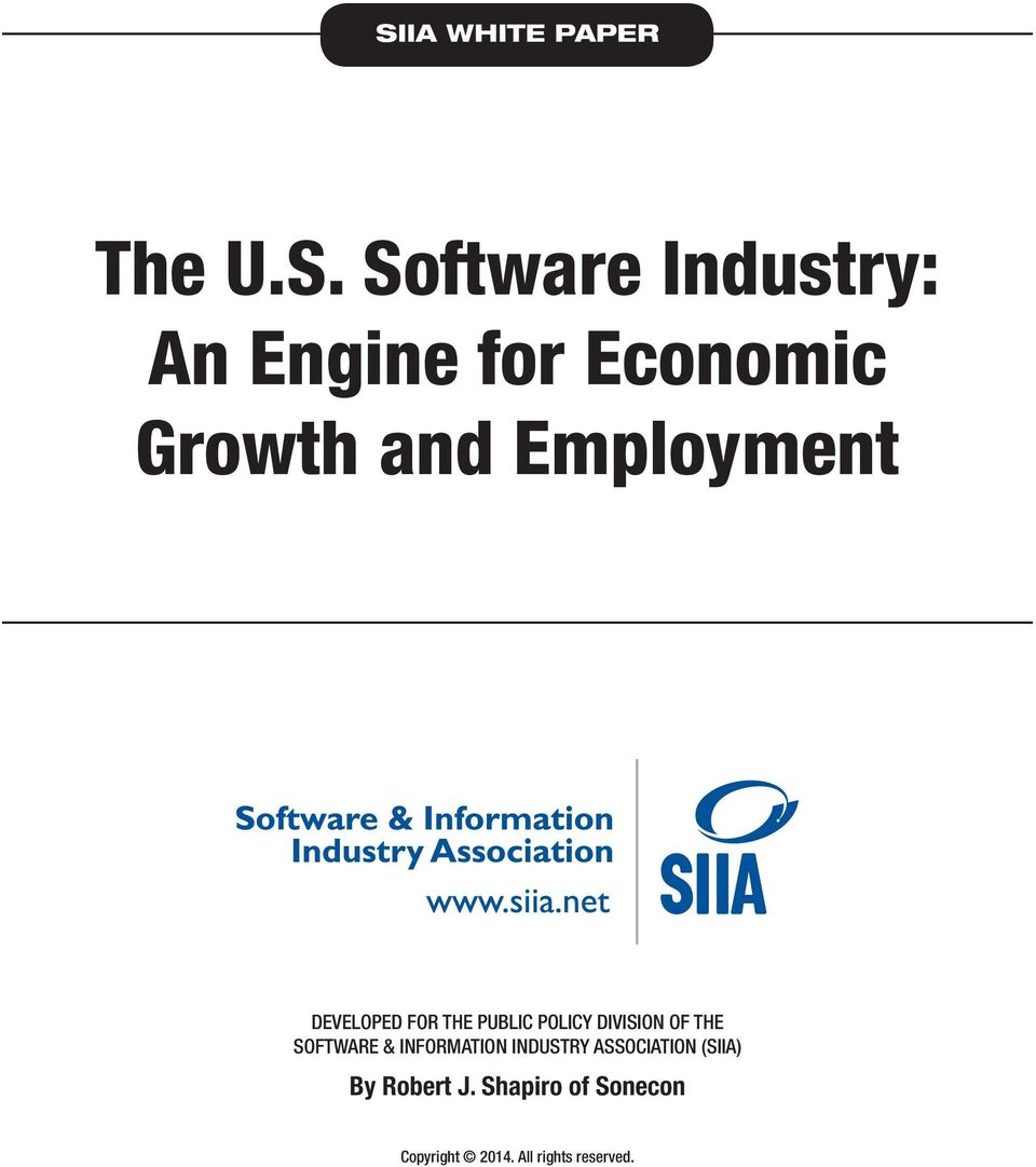 DIVISION OF THE SOFTWARE & INFORMATION INDUSTRY ASSOCIATION