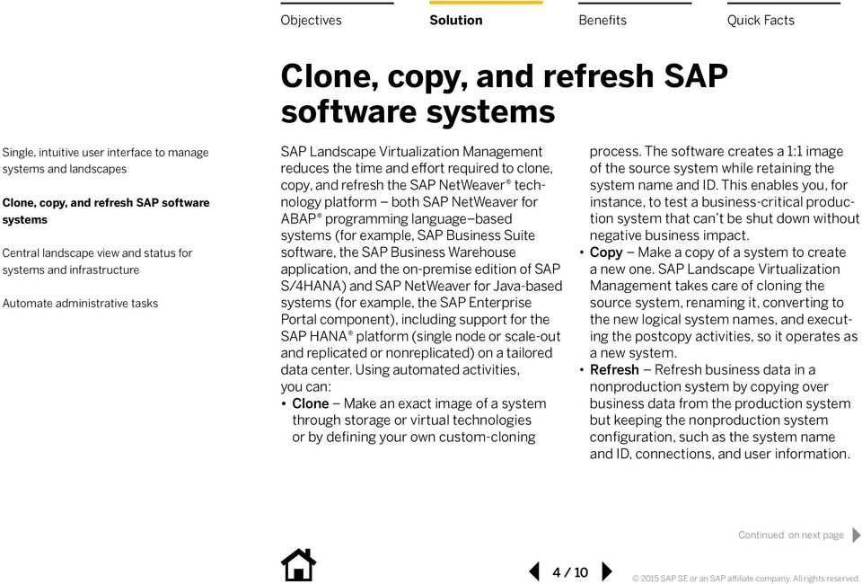 component), including support for the SAP HANA platform (single node or scale-out and replicated or nonreplicated) on a tailored data center.
