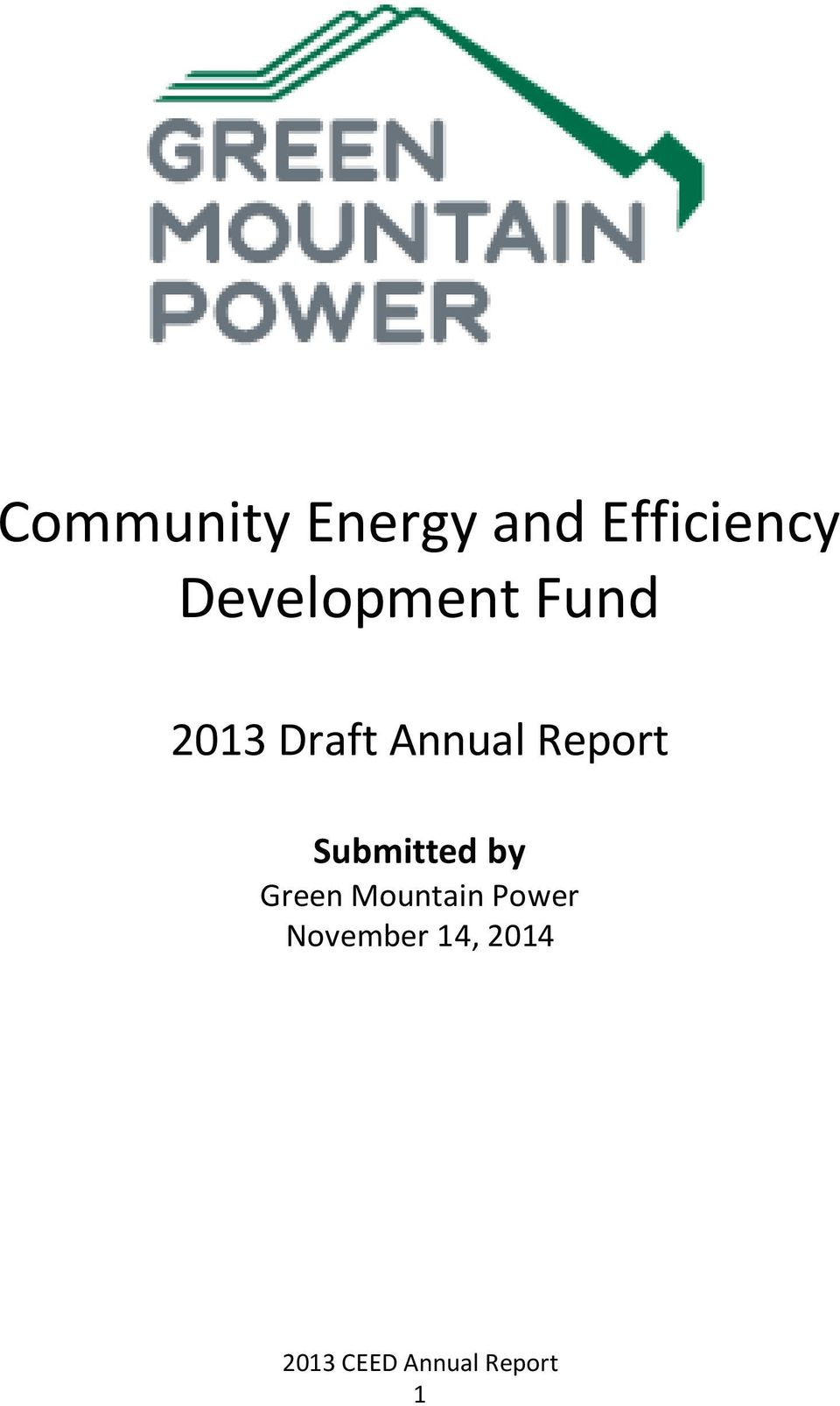 Annual Report Submitted by