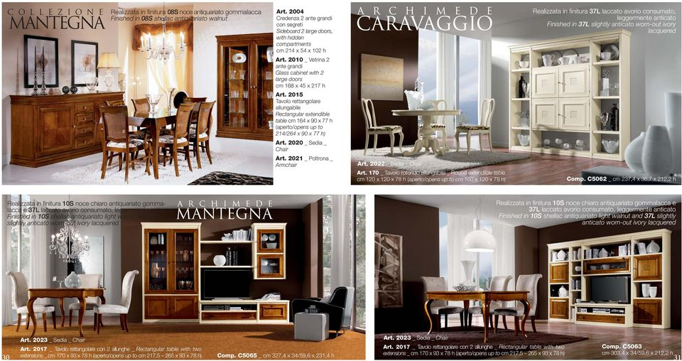 2010 _ Vetrina 2 ante grandi Glass cabinet with 2 large doors cm 168 x 45 x 217 h Art.