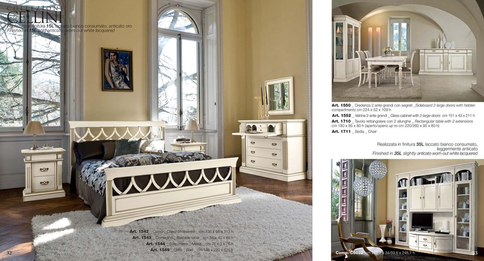 1552 _ Vetrina 2 ante grandi _ Glass cabinet with 2 large doors cm 151 x 43 x 211 h Art.