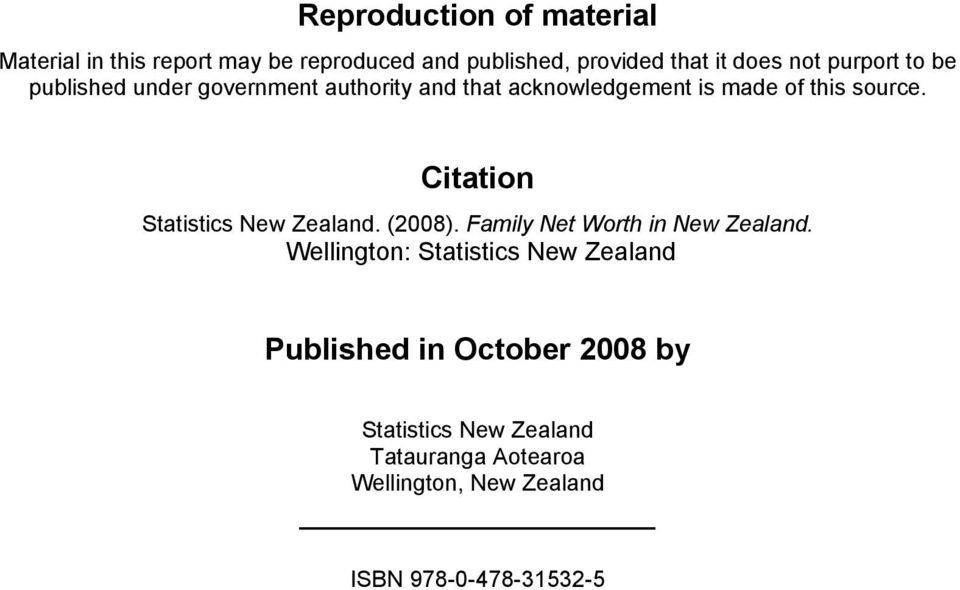 Citation Statistics New Zealand. (28). Family Net Worth in New Zealand.