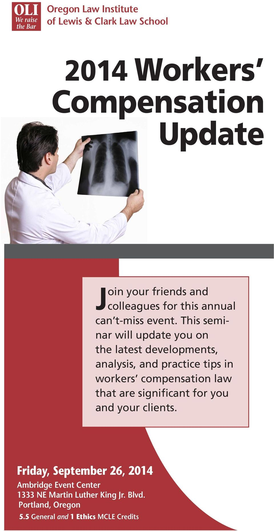 This seminar will update you on the latest developments, analysis, and practice tips in workers compensation law that