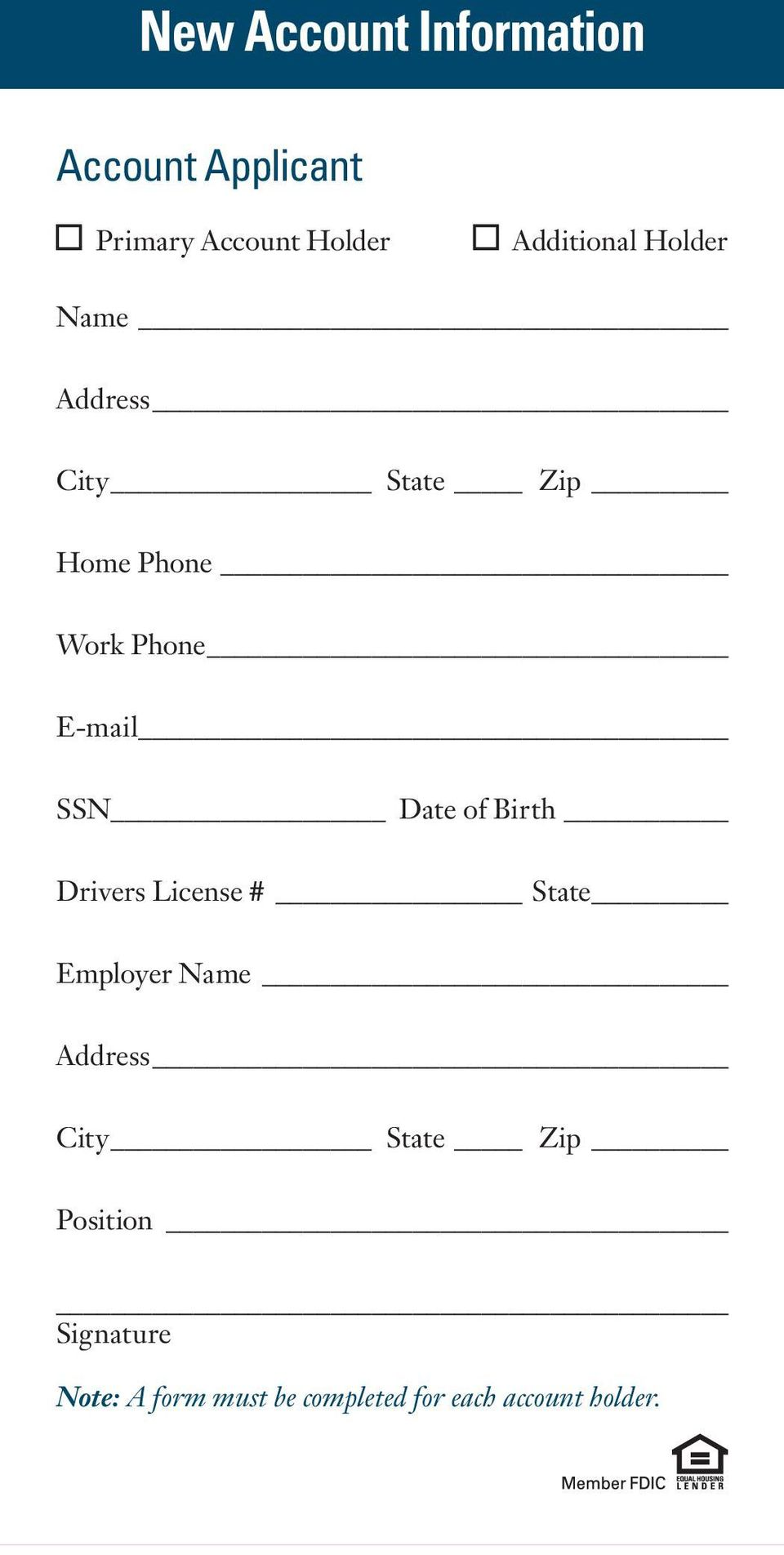 SSN Date of Birth Drivers License # State Employer Name