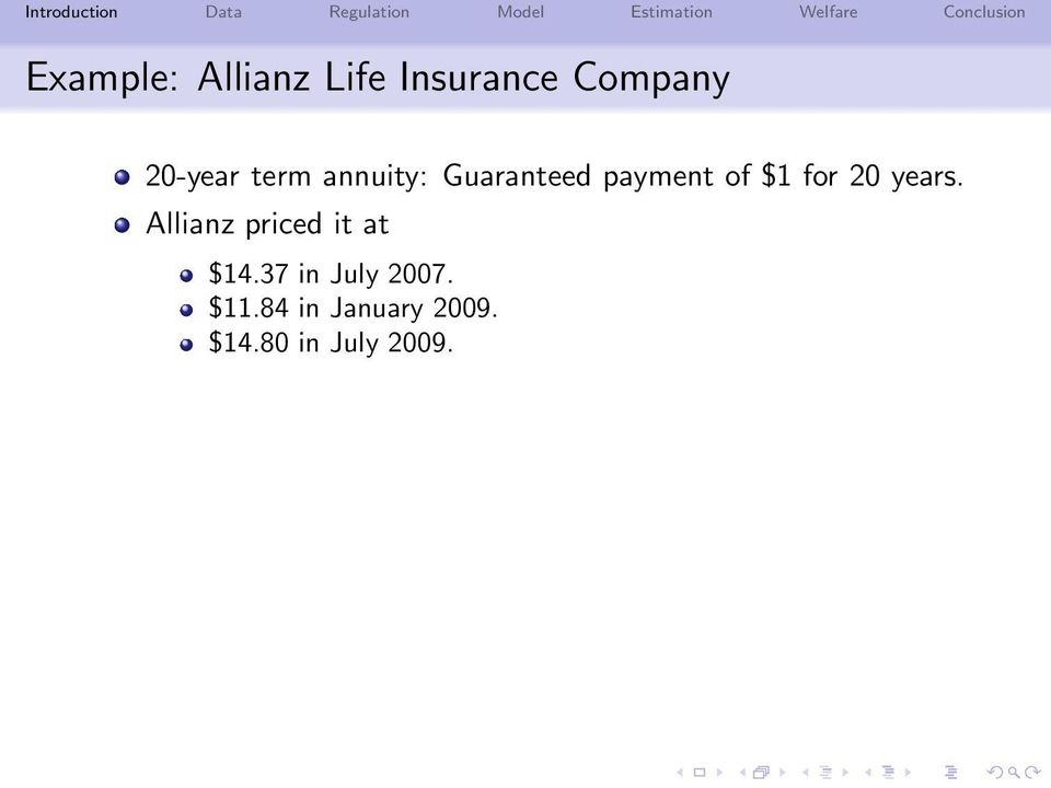 for 20 years. Allianz priced it at $14.