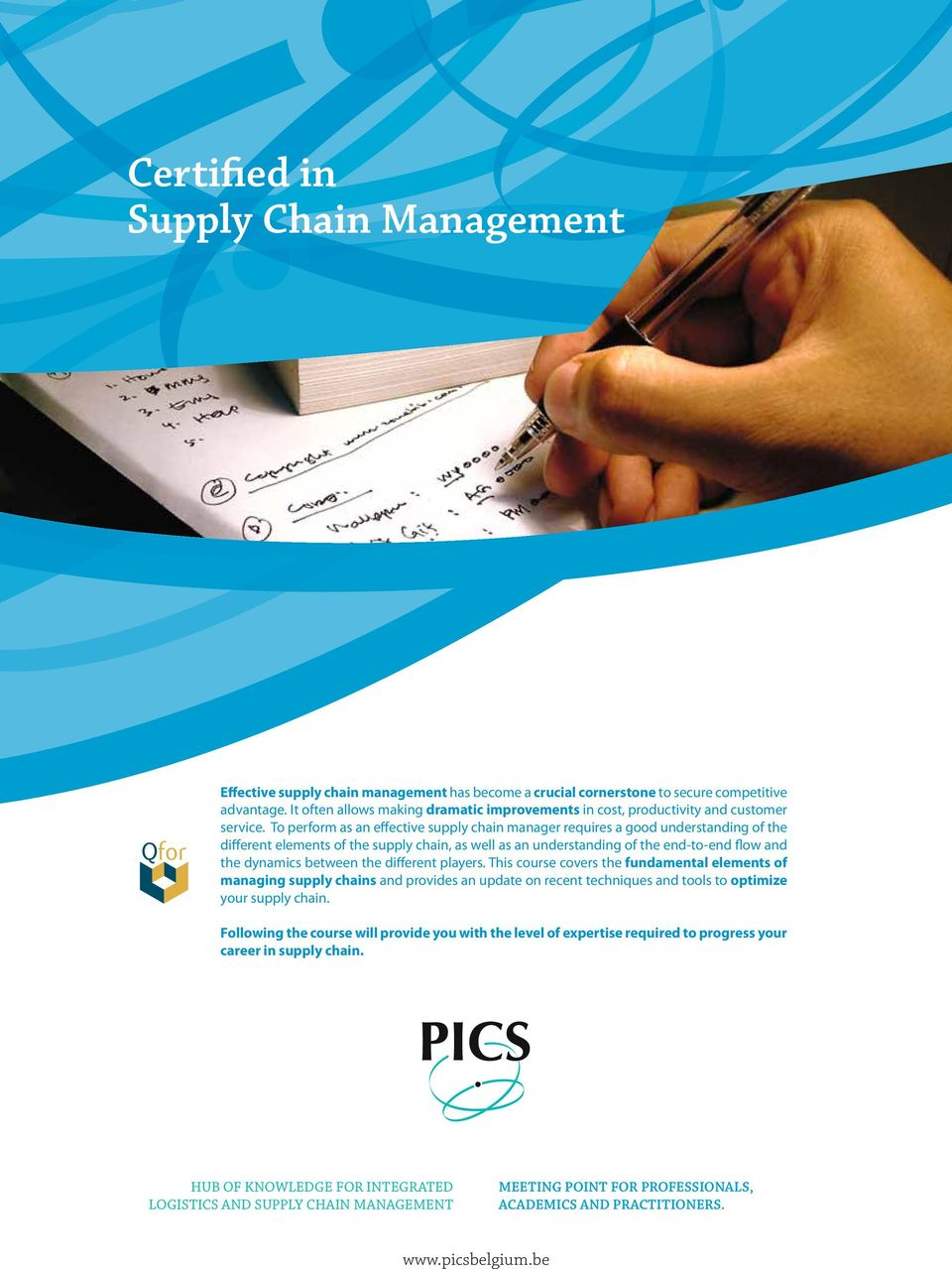 To perform as an effective supply chain manager requires a good understanding of the different elements of the supply chain, as well as an understanding of the end-to-end flow and the dynamics