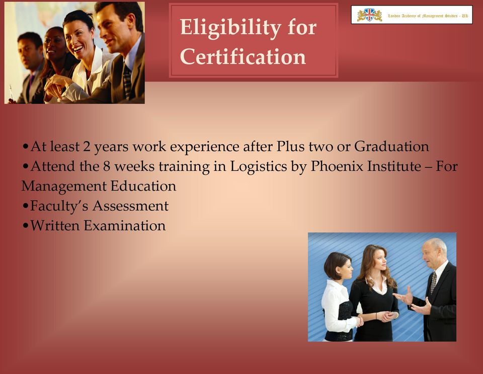 weeks training in Logistics by Phoenix Institute For