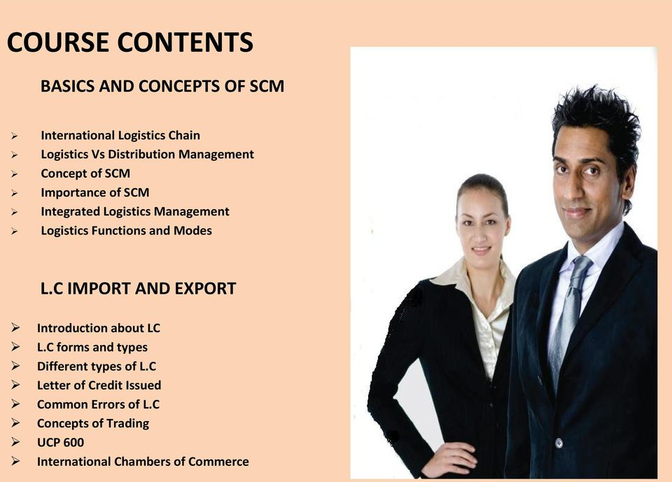Modes L.C IMPORT AND EXPORT Introduction about LC L.C forms and types Different types of L.