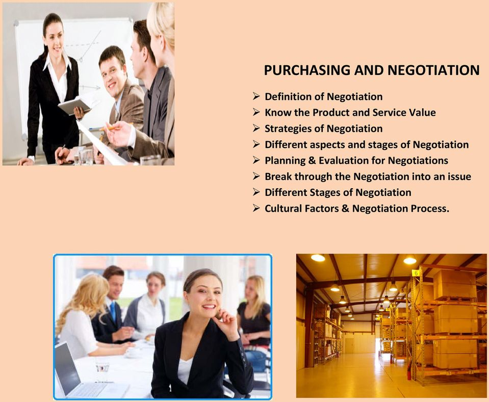 Negotiation Planning & Evaluation for Negotiations Break through the