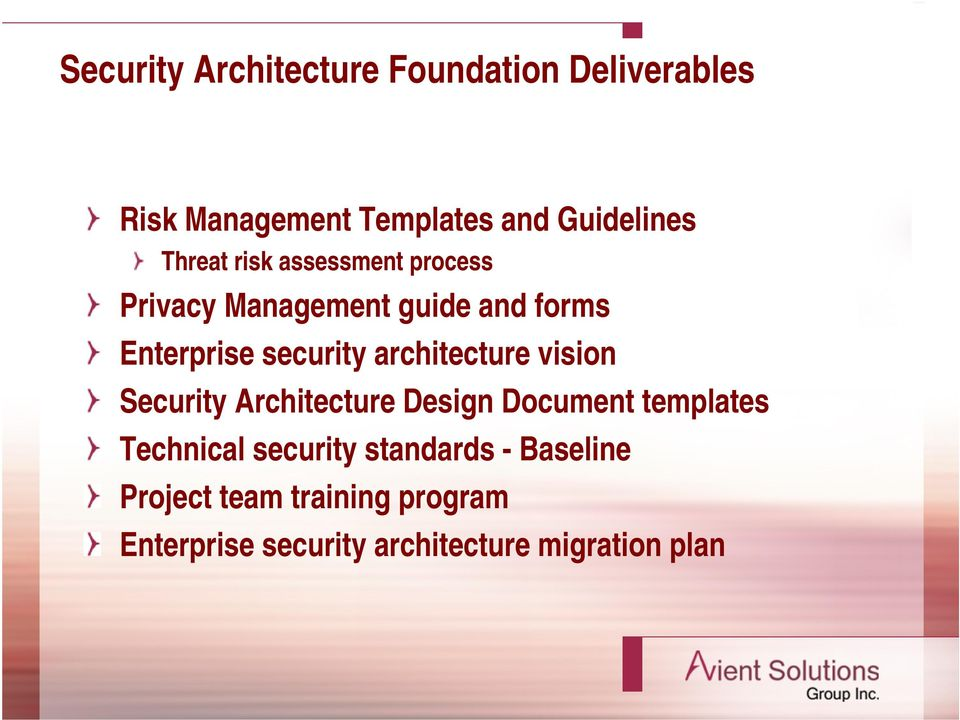 architecture vision Security Architecture Design Document templates Technical security