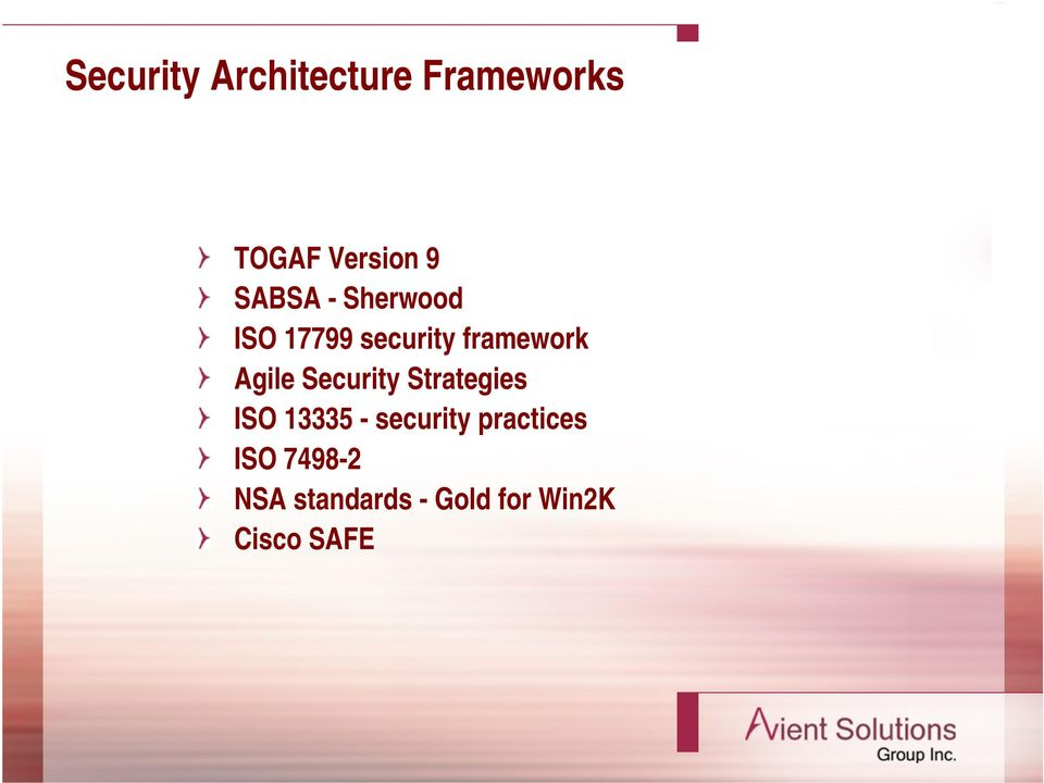 Agile Security Strategies ISO 13335 - security