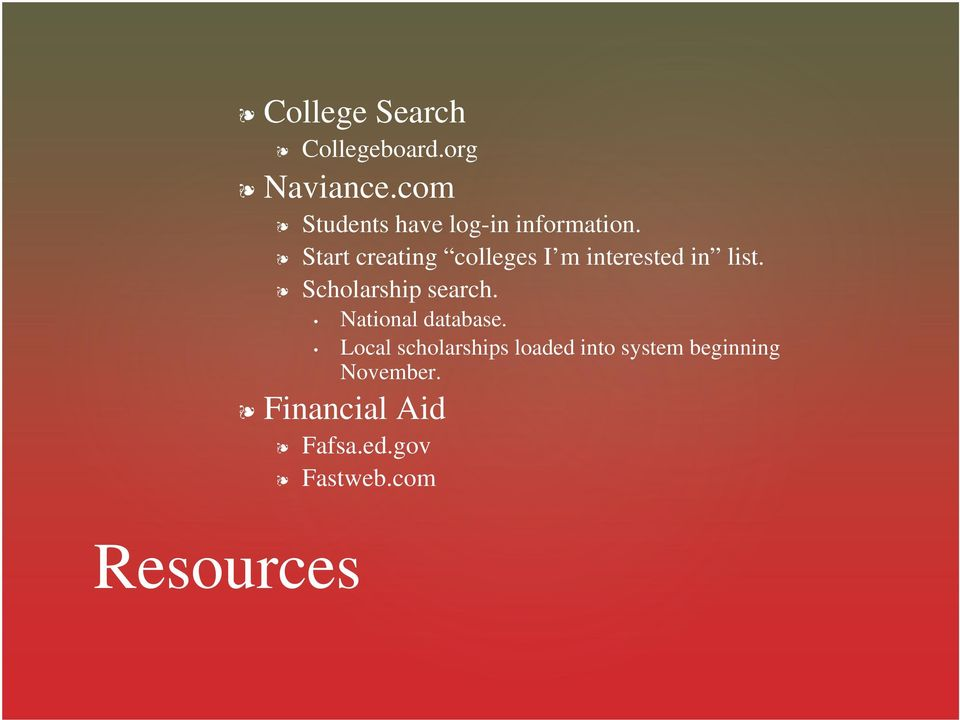 Start creating colleges I m interested in list. Scholarship search.