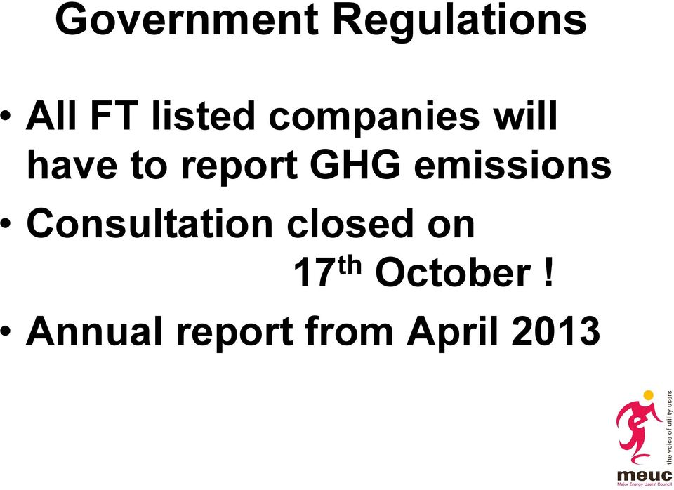 emissions Consultation closed on 17