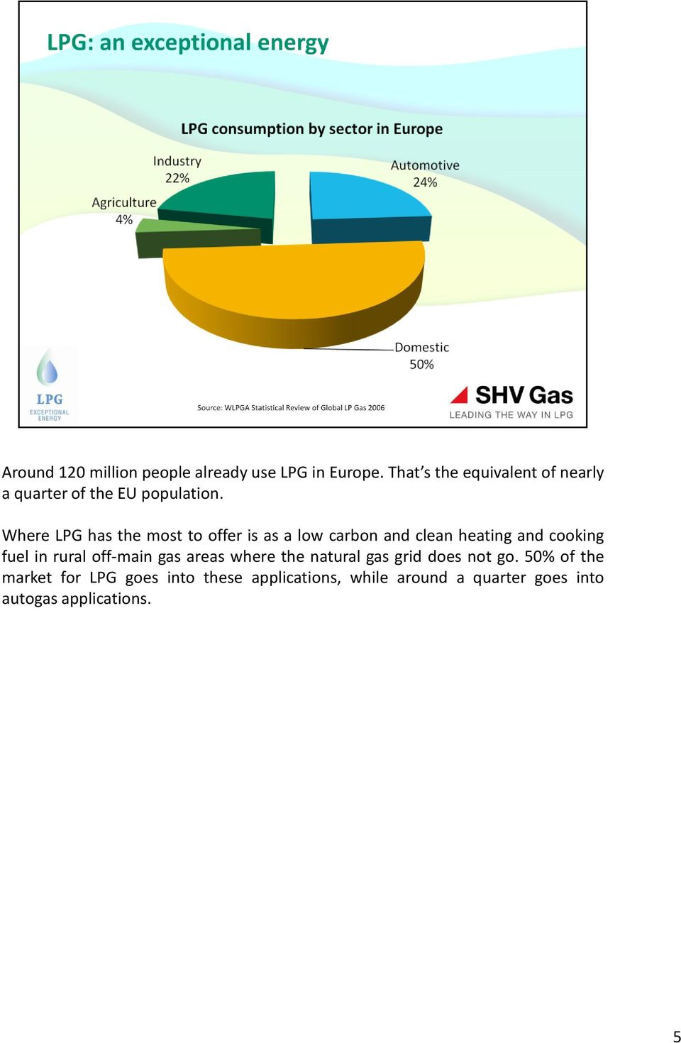 Where LPG has the most to offer is as a low carbon and clean heating and cooking fuel in rural