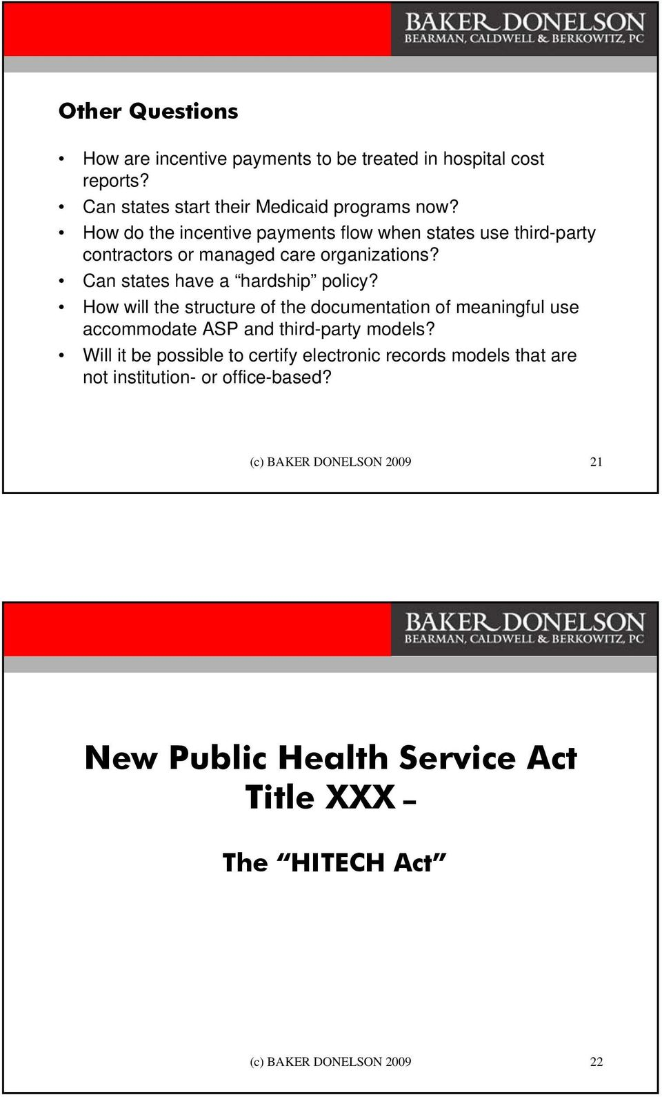 How will the structure of the documentation of meaningful use accommodate ASP and third-party models?