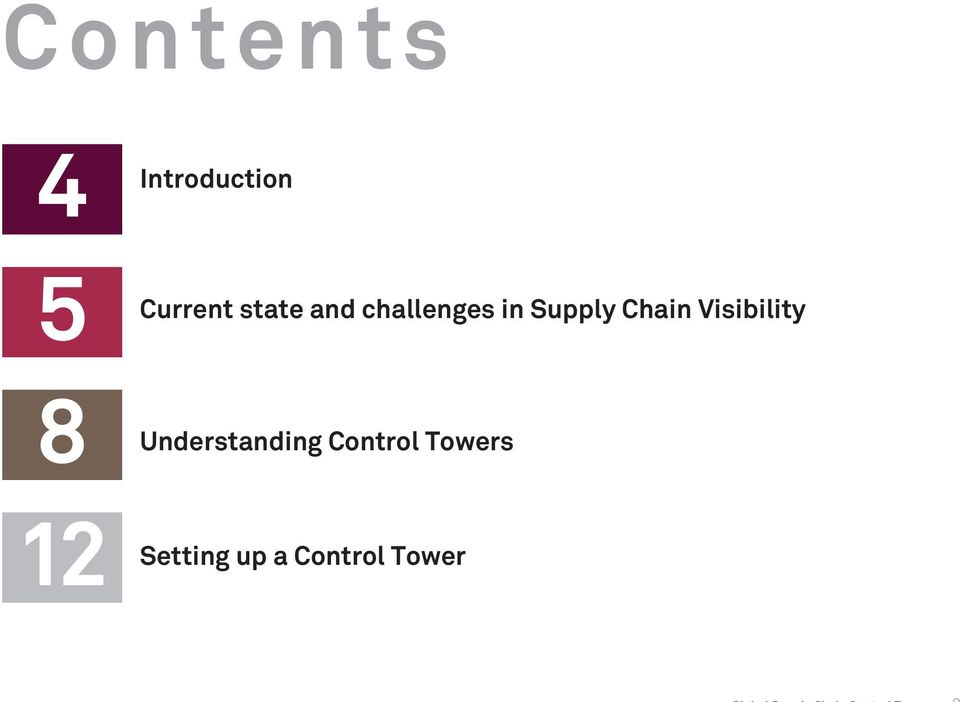 in Supply Chain Visibility Control