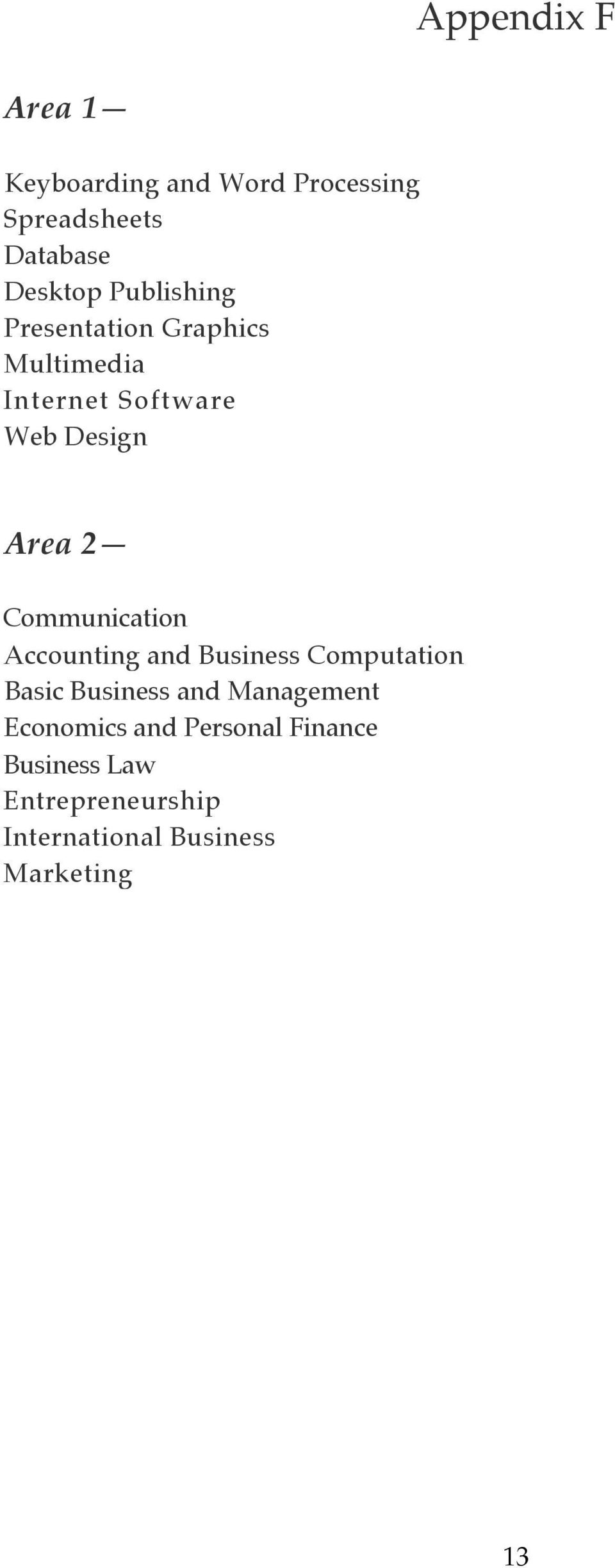 Communication Accounting and Business Computation Basic Business and Management