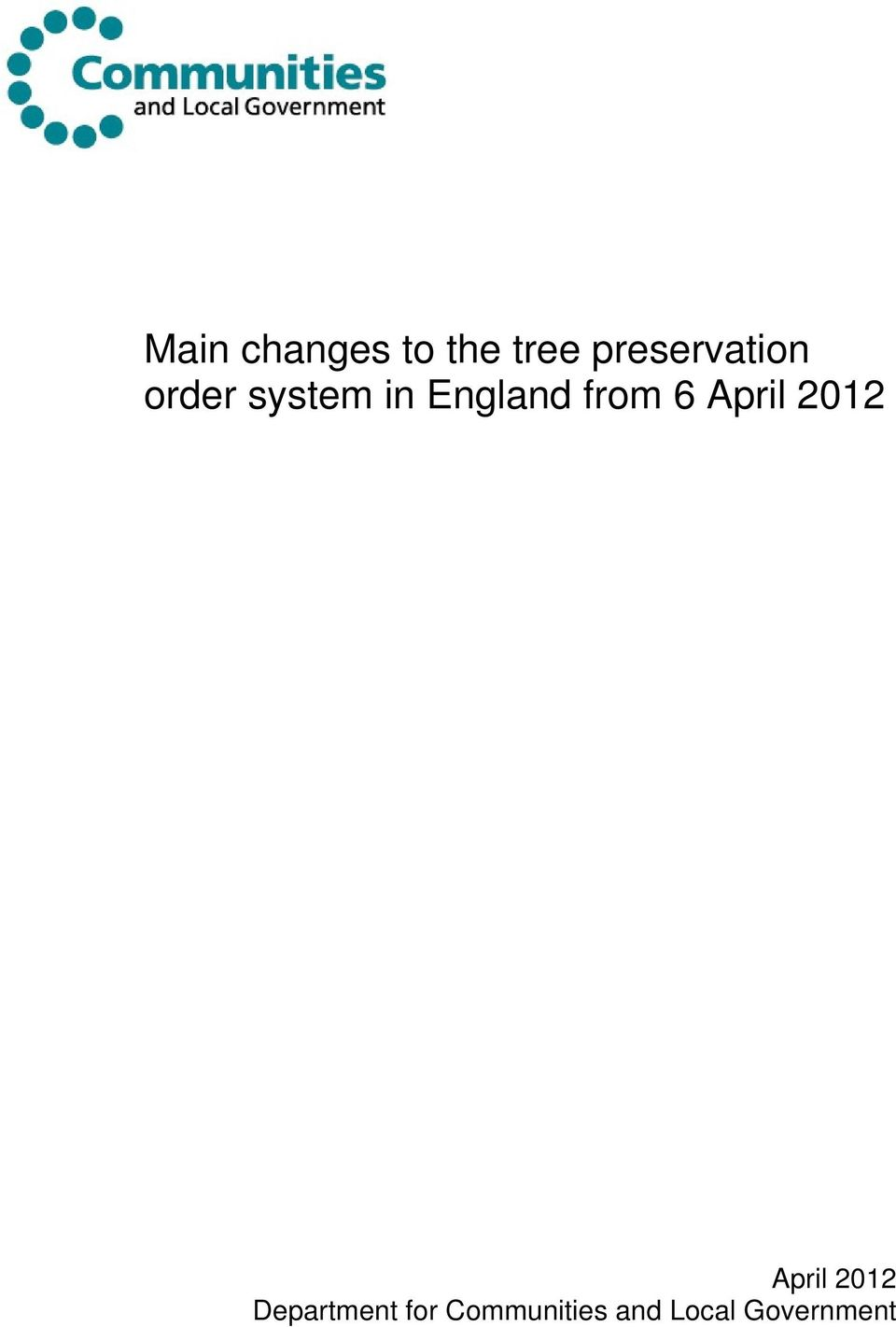 England from 6 April 2012 April