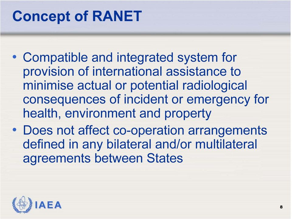 or emergency for health, environment and property Does not affect co-operation