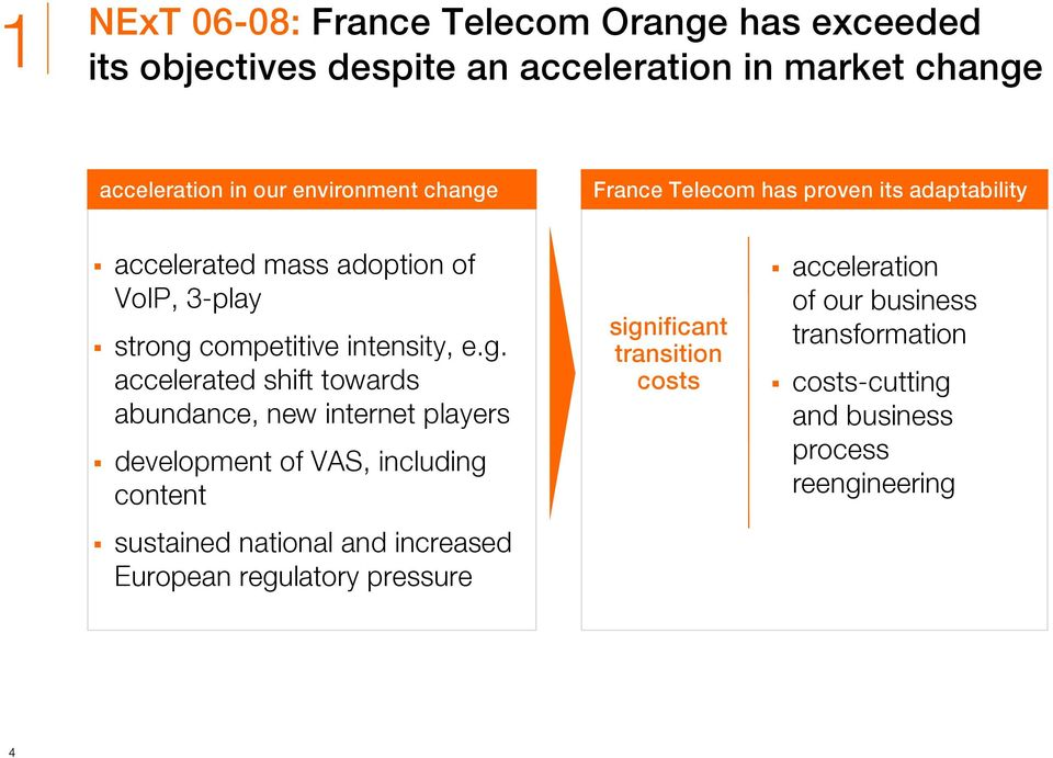 France Telecom has proven its adaptability accelerated mass adoption of VoIP, 3-play strong