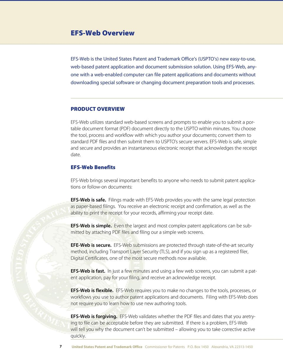 United States Patent and Trademark Office (USPTO) Patent e-commerce