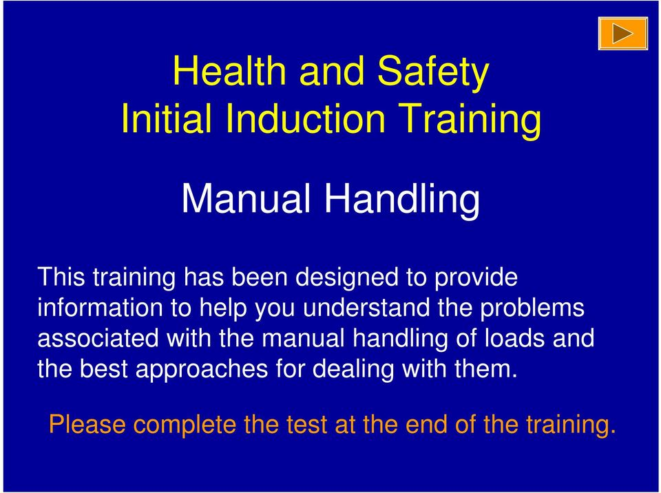 the problems associated with the manual handling of loads and the best