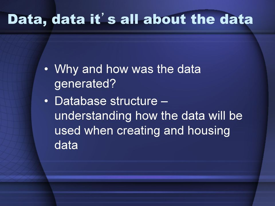 Database structure understanding how