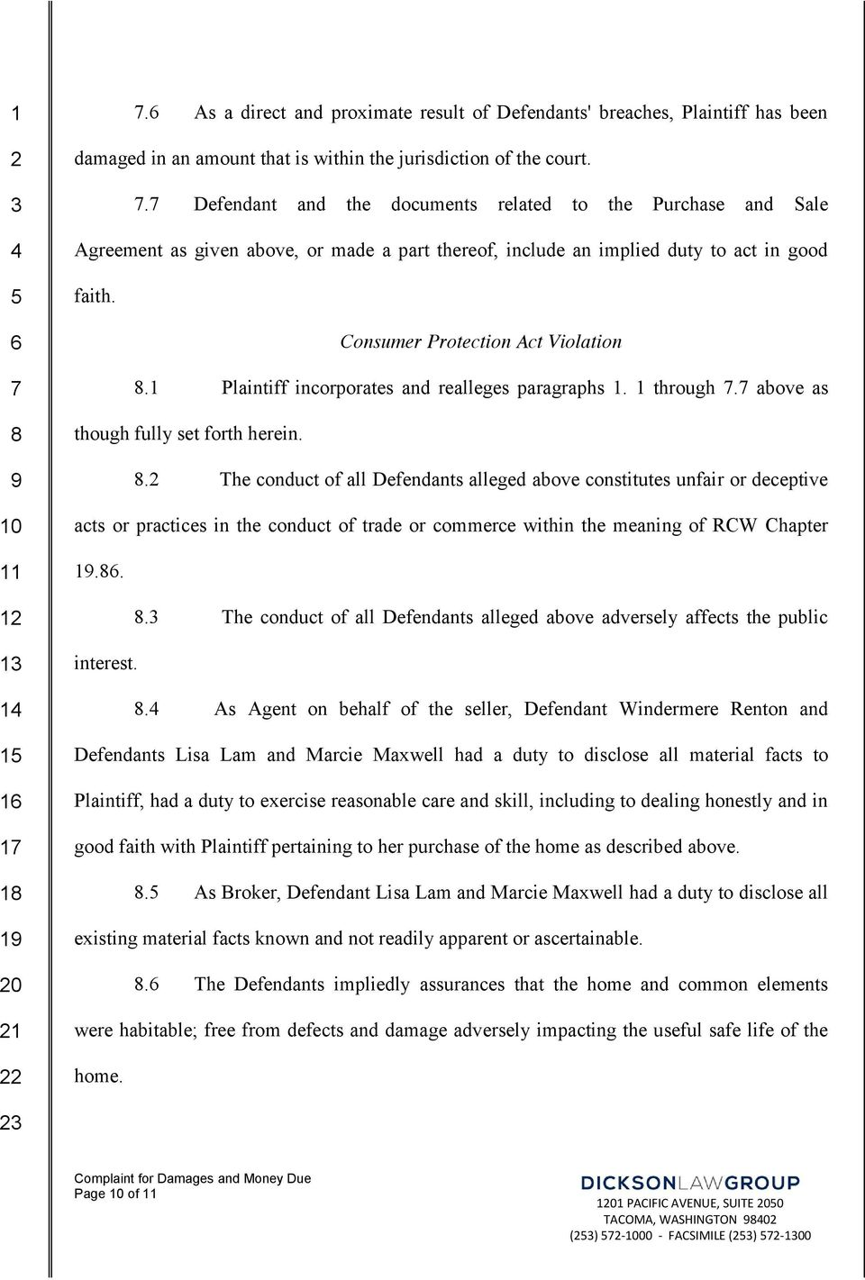 1 Plaintiff incorporates and realleges paragraphs 1. 1 through. above as.