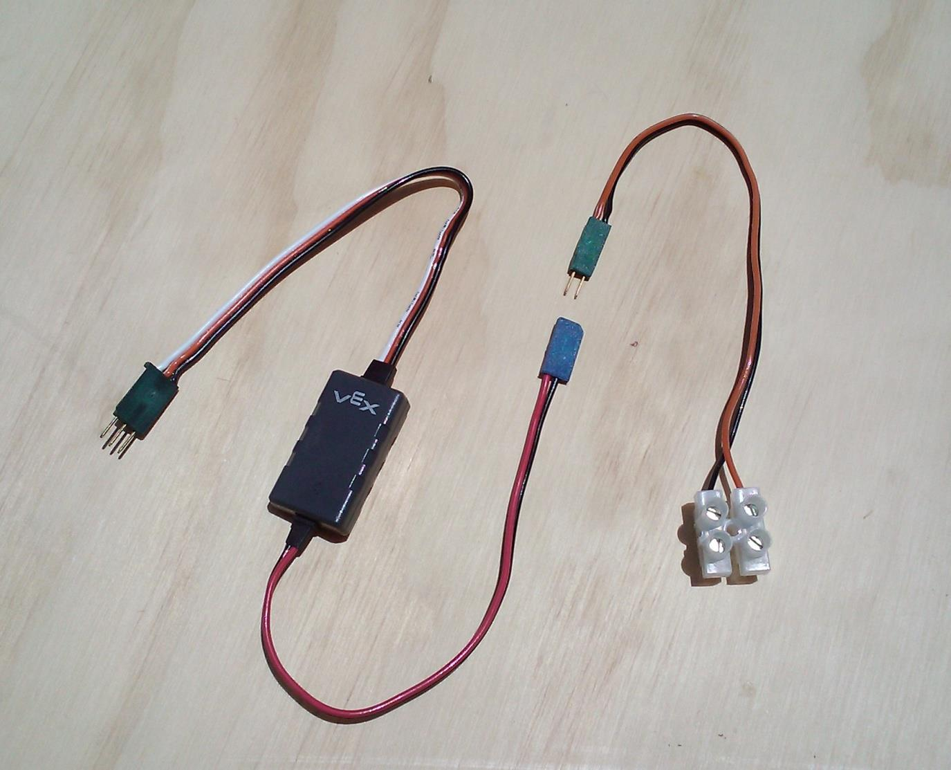 3-Wire Motor Connection (1) External Motor Controller Suggest using a 4 wire tie or heat shrink tubing