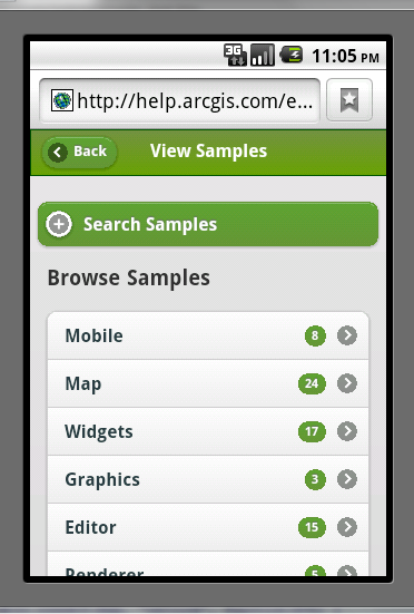 Mobile Web Applications ArcGIS API for JavaScript Mobile web apps built using HTML 5 Designed to run on