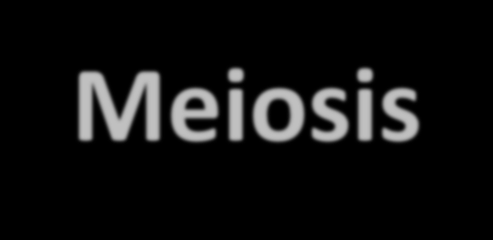 Meiosis Meiosis is the process of cell division that we use for the formation of sex or reproductive cells.