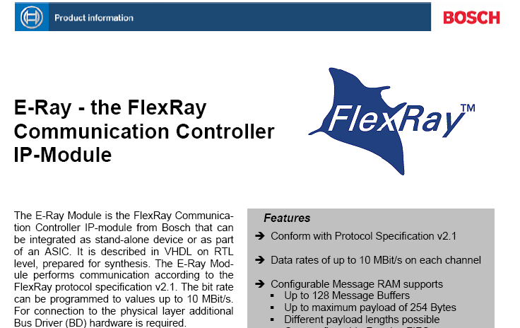 FlexRay Communication Controller http://www.