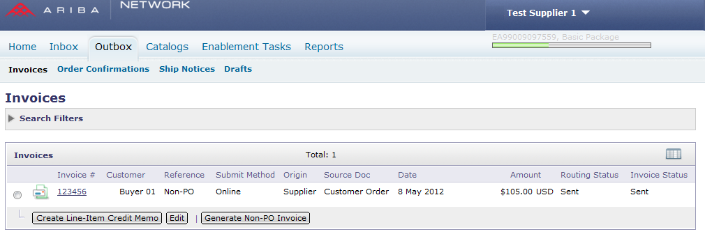 3 Edit and Resubmit Invoices Click the Outbox tab Click the Invoice # for the failed, canceled, or