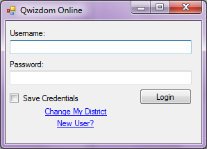 7 IMPORTING ACTIVITIES FROM CONNECT ONLINE STEP 1: Log on to Qwizdom Online. STEP 2: Click on the online tab. Enter username and password in Qwizdom Online menu located on top toolbar of Connect.