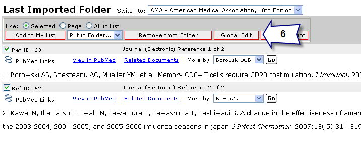 Task 4 Sorting and Printing References 1. With your references still displayed in the AMA 10 th view, click on the Sort By drop-down and select Title, Primary. 2.